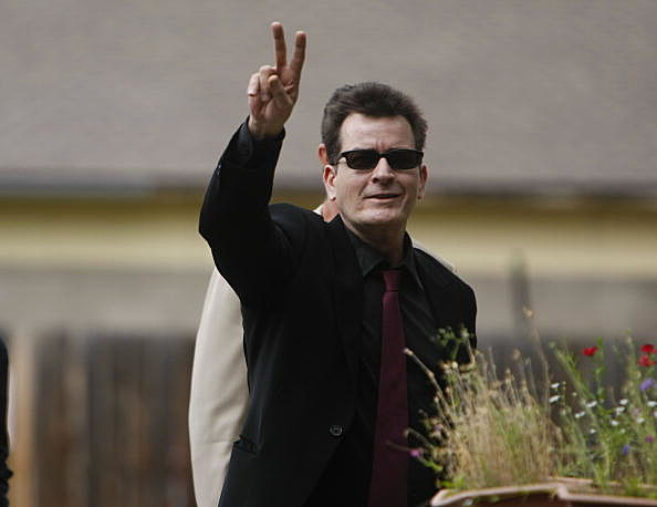 Charlie Sheen arrives at the Pitkin County Courthouse  on August 2, 2010 in Aspen, Colorado