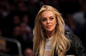 Actress Lindsay Lohan attends the game between the New York Knicks and the Los Angeles Lakers at Staples Center on January 9, 2011 in Los Angeles, California