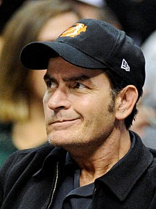 Charlie Sheen at Cleveland Cavaliers v Los Angeles Clippers