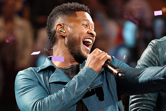 Usher performs at Madison Square Garden on February 24, 2012