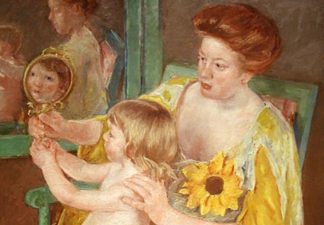 mother and child by Cassatt