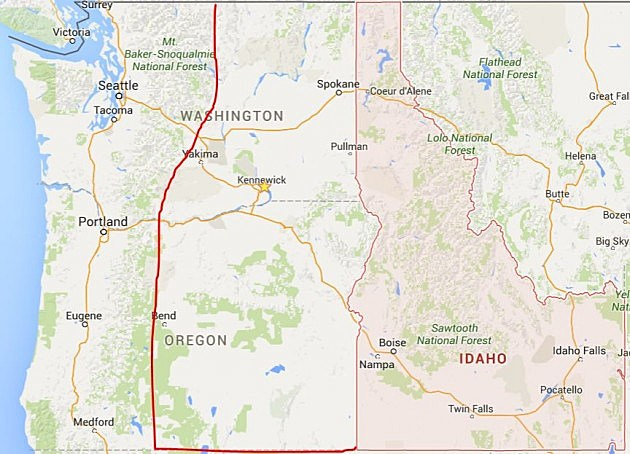Oregon Man Wants Eastern Washington To Become Part Of Idaho - Map eastern washington